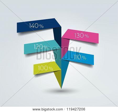 Ribbon Infographic.