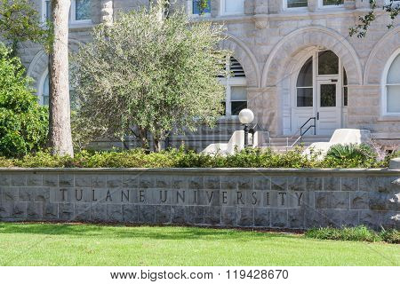 New Orleans, La/usa - Circa March 2009: Tulane University In New Orleans,  Louisiana