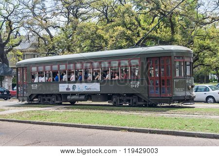 New Orleans, La/usa - Circa March 2009: Municipal Tram In New Orleans,  Louisiana