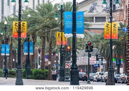 New Orleans, La/usa - Circa March 2009: Canal Street In New Orleans,  Louisiana