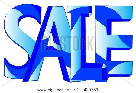 Word sale on white