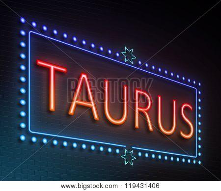 Taurus Sign Concept.