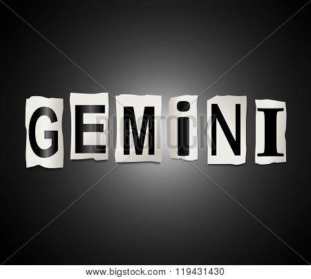 Gemini Word Concept.