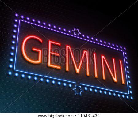 Gemini Sign Concept.
