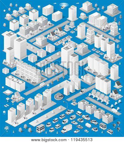 A large set of isometric urban