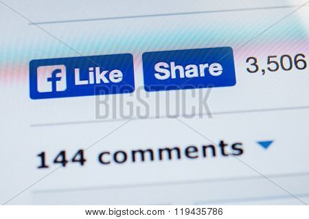 New Facebook Like And Share Button