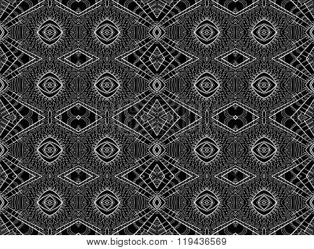 Background Abstract White Black Aztec Tribal Ornament 4
