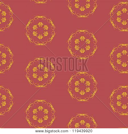 Vector seamless pattern with burgundy color