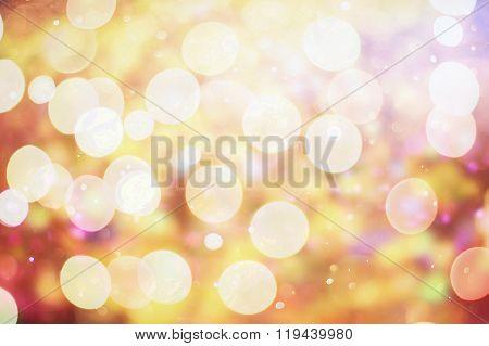 Twinkling Lights Vintage Blurred Natural Bokeh