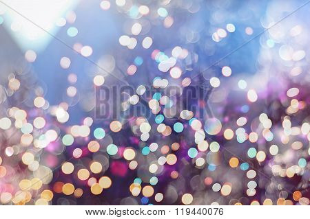 Twinkling Lights Vintage Blurred Natural Bokeh