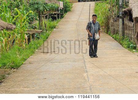 Cheerful Thai countryman