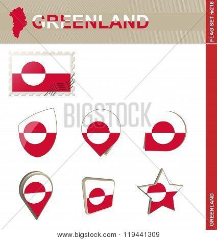 Greenland Flag Set, Flag Set #216