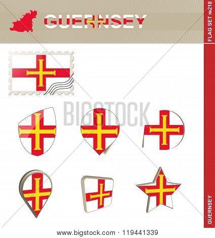 Guernsey Flag Set, Flag Set #218