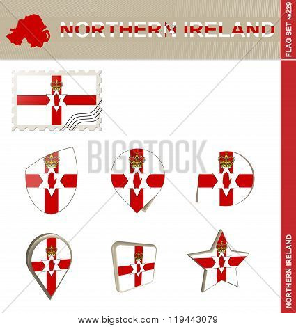 Northern Ireland Flag Set, Flag Set #229