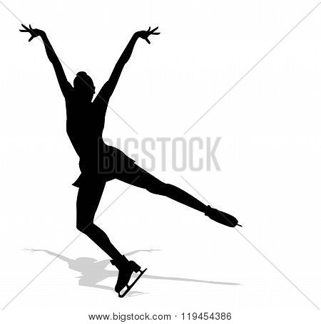 silhouette of ice skater
