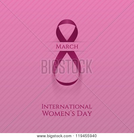 March 8. Womens Day greeting Card Template