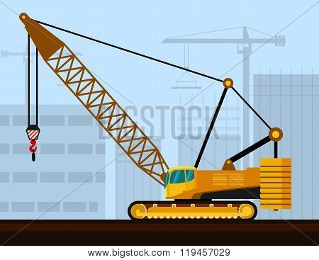 Crawler Lattice Boom Crane