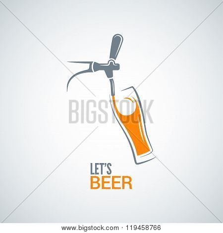 beer tap glass design vector background