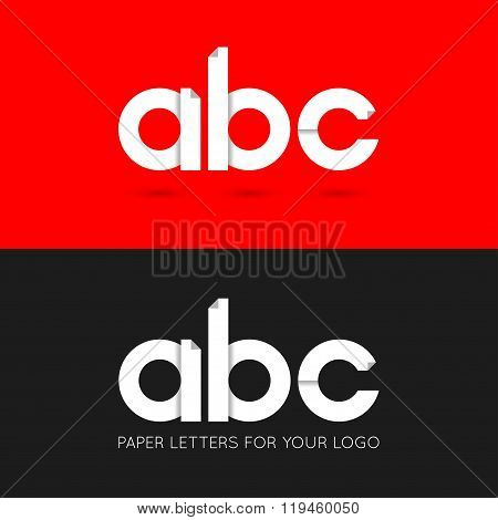 letter A B C logo paper set background