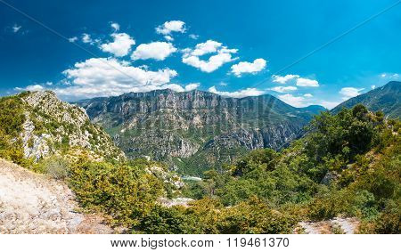 Beautiful landscape of the Gorges Du Verdon in France