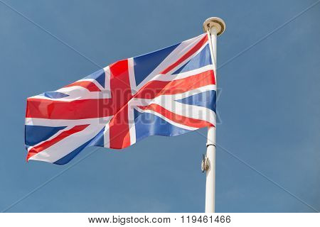 Brexit - Separated Silky Flags Of European Union And United Kingdom