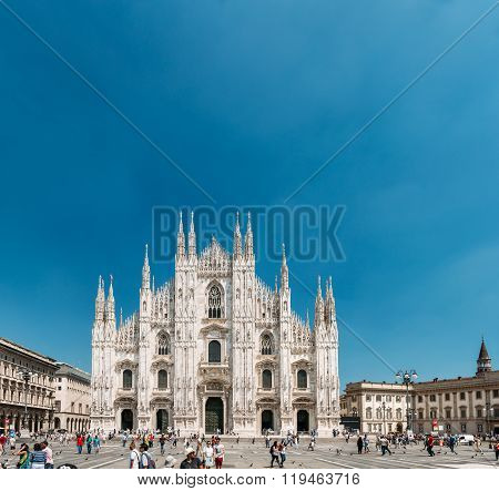 Milan Cathedral or Duomo di Milano is the cathedral church of Mi