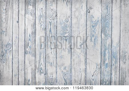 Shabby wooden planks, white and blue