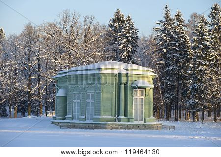 Venus Hall January evening. Gatchina
