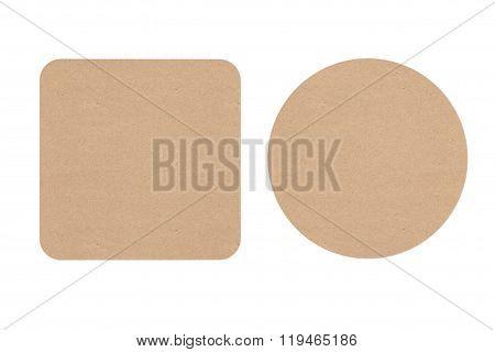 Two Cardboard Beer Coasters