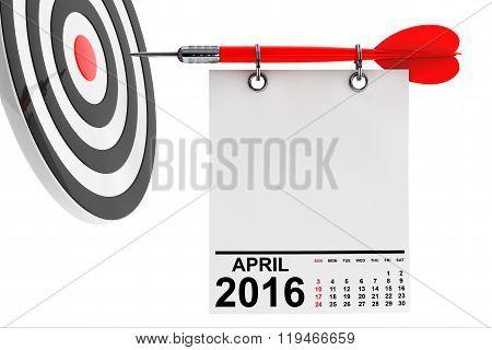 Calendar April 2016 With Target