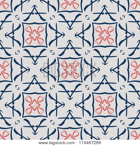 Seamless ornament pattern vector tile