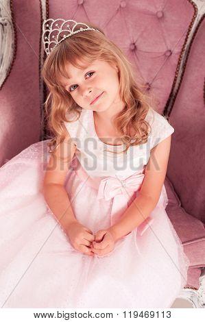 Smiling little princess