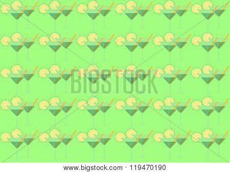 background glasses with martini