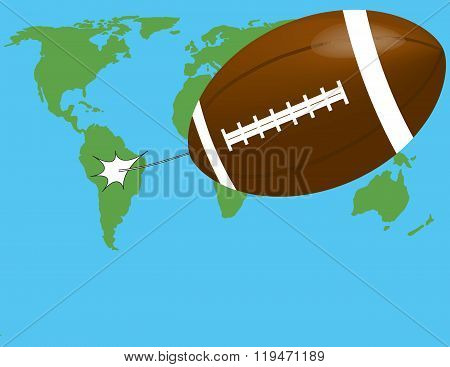 flight of the ball on the world map
