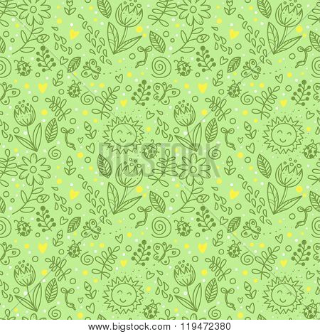 Spring seamless background
