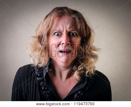 Horrified woman