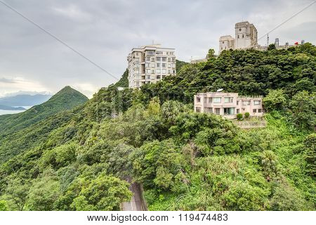 Hong Kong, Sar China - Circa July 2015: Private Mansions At Victoria Peak, Hong  Kong