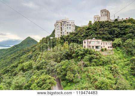 Hong Kong, Sar China - Circa July 2015: Private Mansions At Victoria Peak, Hong  Kong