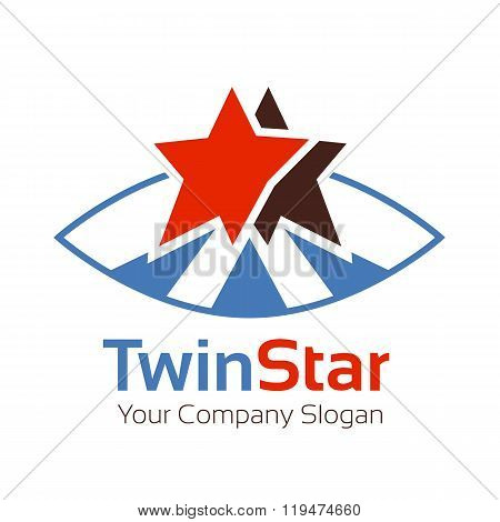 Logo Template. Abstract Business Corporate Identity Symbol. Company Graphic Concept