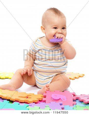 Little Boy With Alphabet