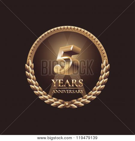 Five years anniversary celebration design