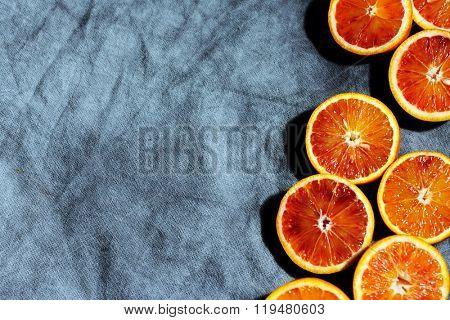 slices of bloody oranges