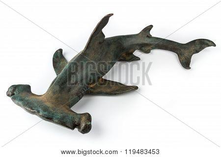 Hammerhead Shark On White Background