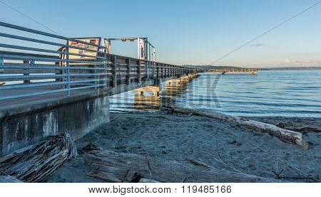 Pier At High Tide