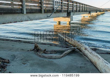Pier At High Tide 2