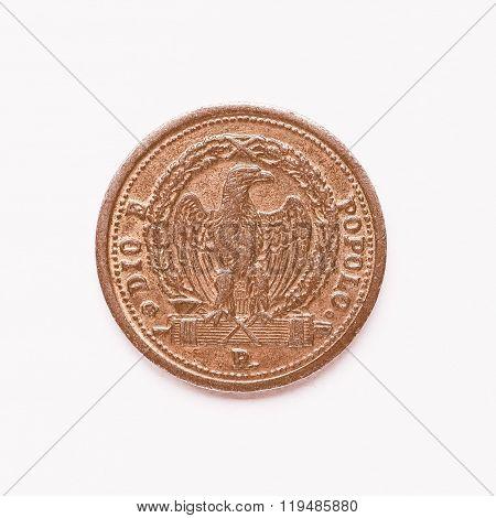 Old Italian Coin 3 Baiocchi Vintage
