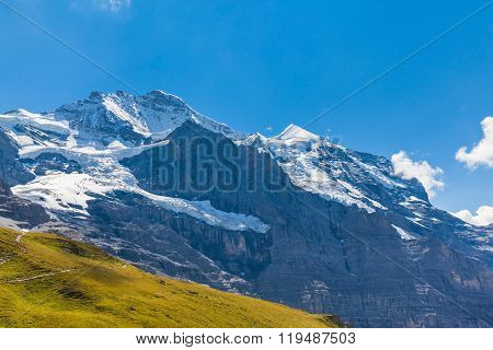 View Of The Famous Peak Jungfrau