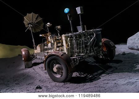 Houston, Tx/usa - Circa July 2013: Space Rover Used For Moon Exploration In Lyndon B. Johnson Space