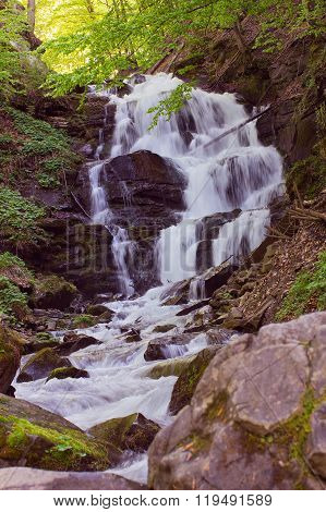 Waterfall Shypit In The Carpathian Mountains