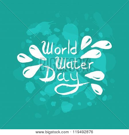 World Water Day Illustration. Vector Water Drops